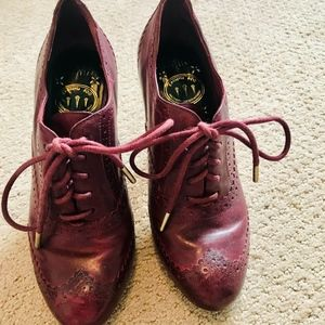 Red Cole Haan Lucinda Oxford Heels